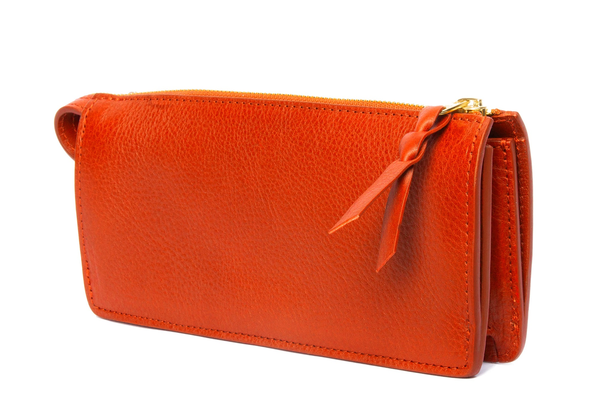Women's Leather Wallet Orange