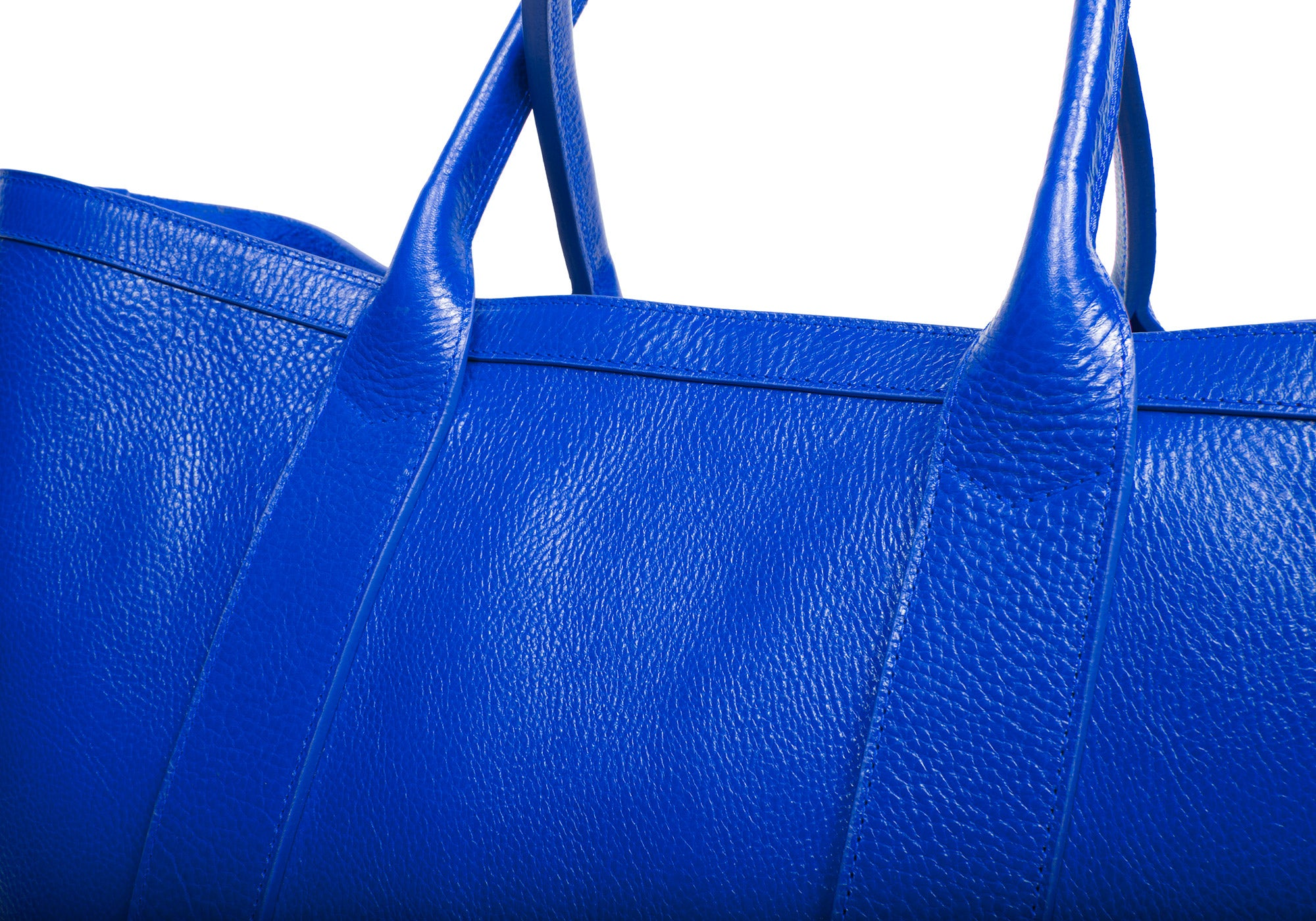 Leather Working Tote Electric Blue