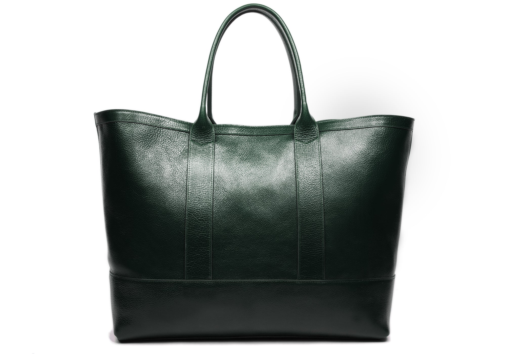 Leather Working Tote Green