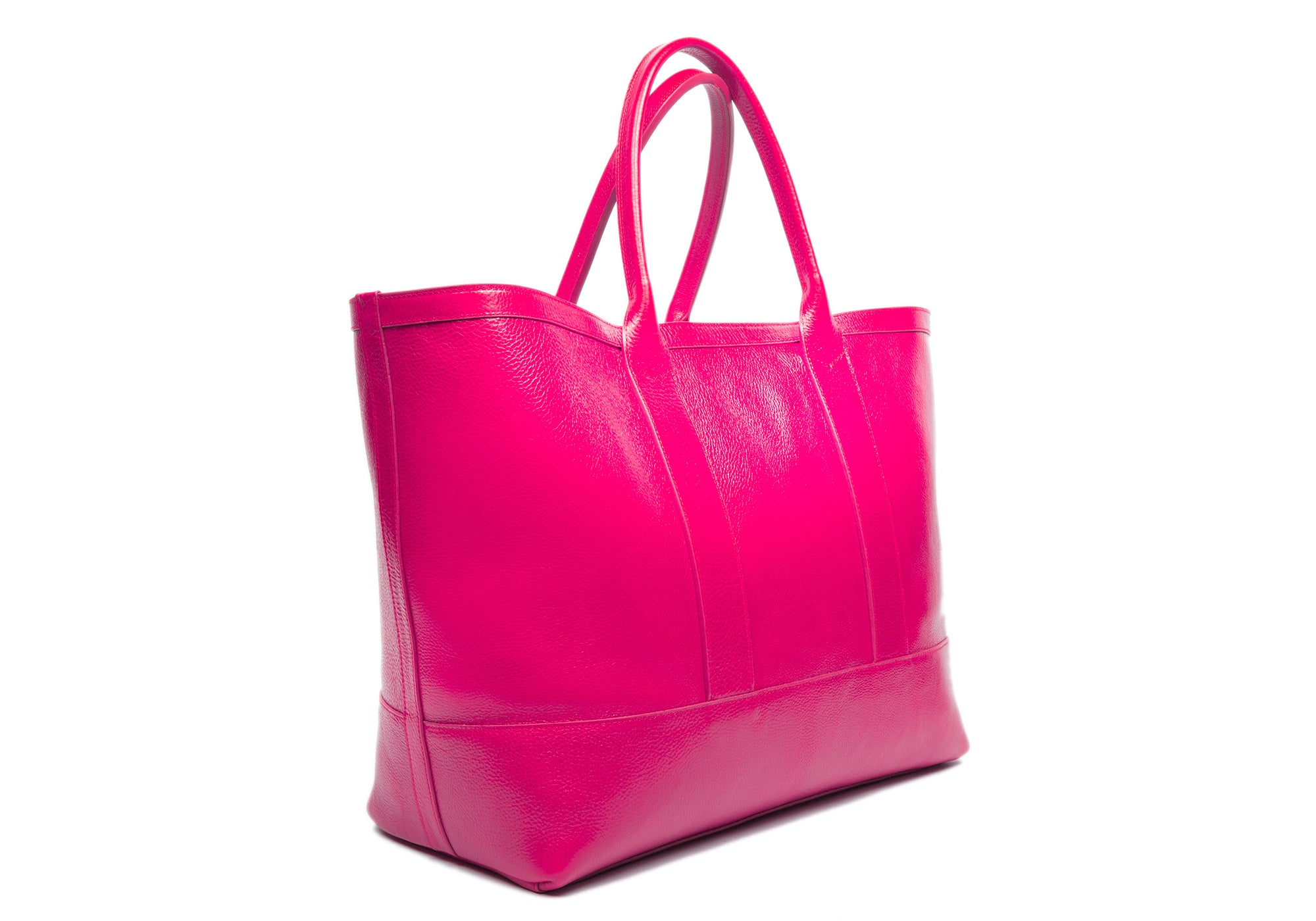 Leather Working Tote Magenta