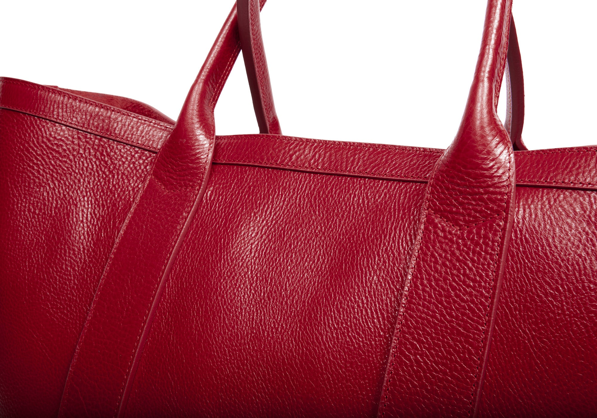 Leather Working Tote Red