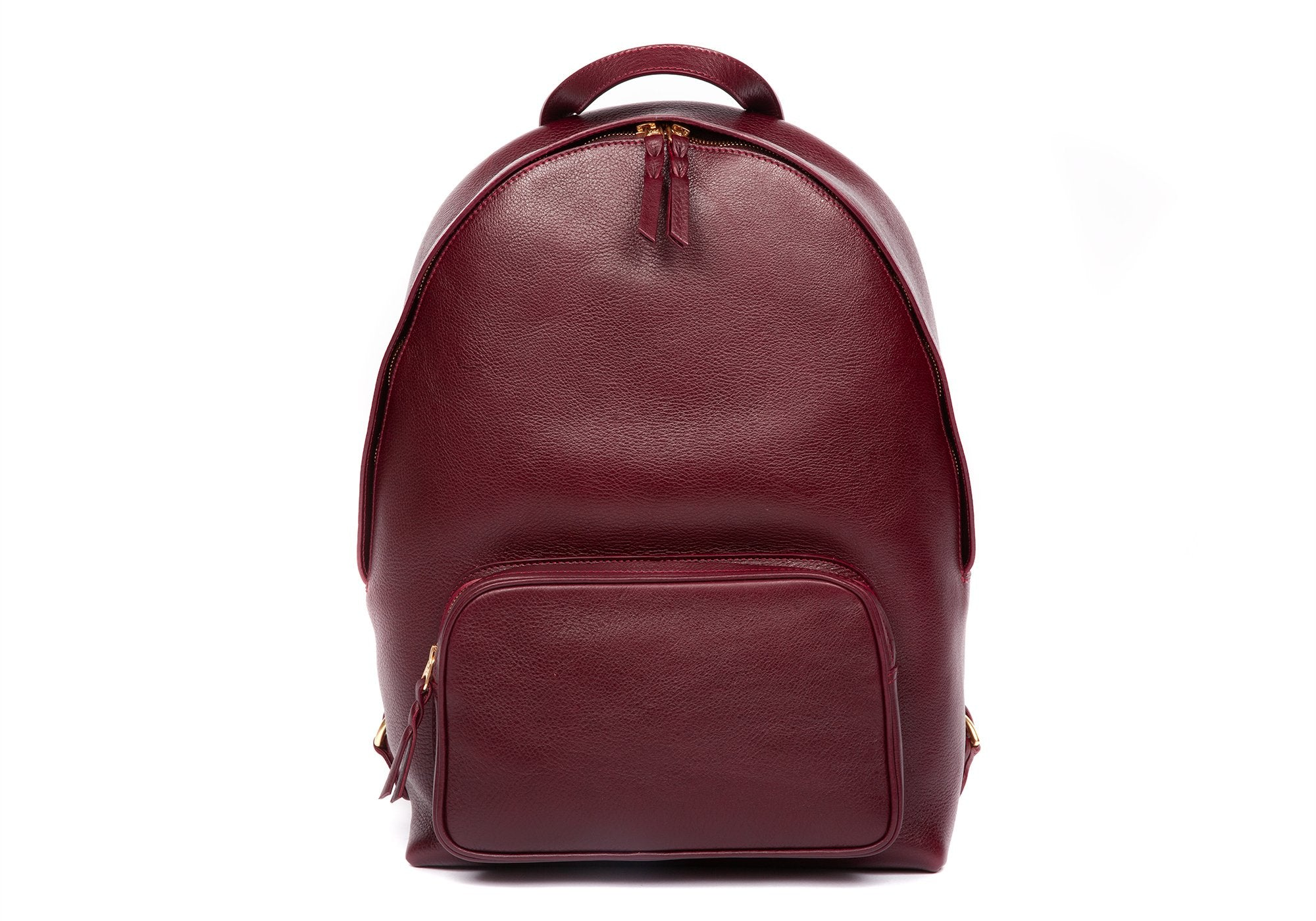 Leather Zipper Backpack Cordovan