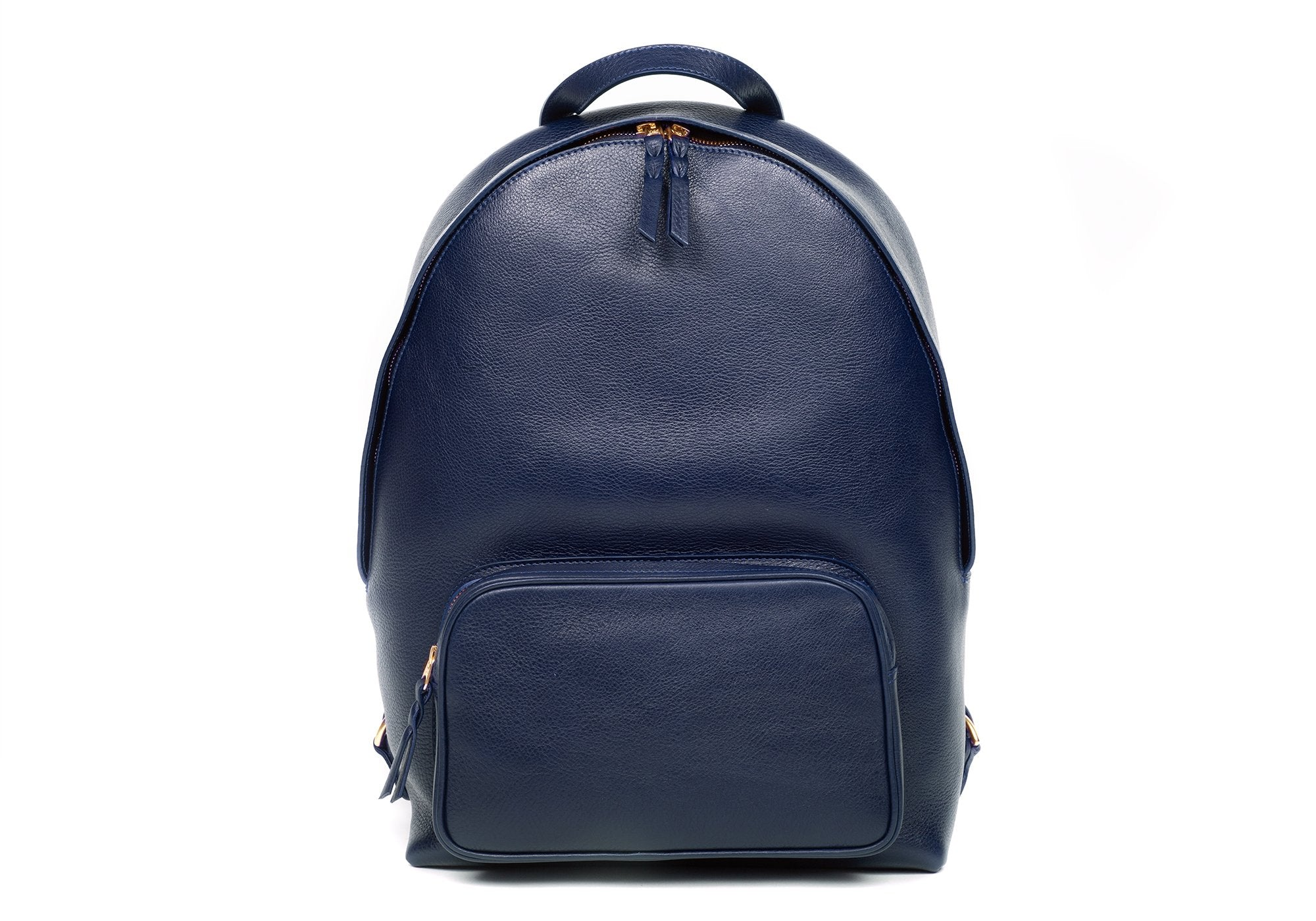 Leather Zipper Backpack Indigo