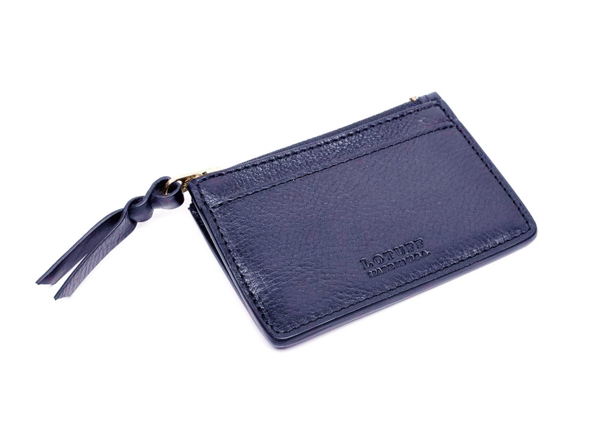 Zipper Credit Card Wallet Indigo