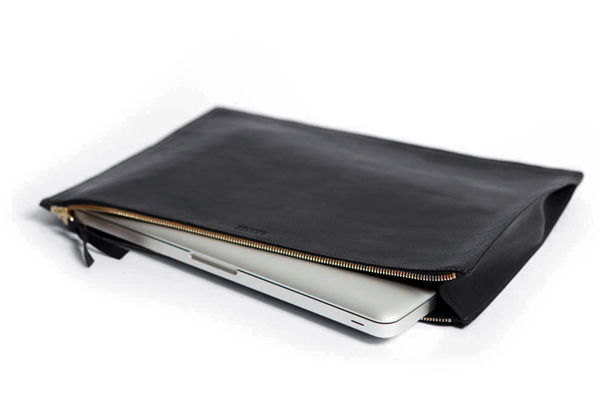 Zipper Document Pouch Black
