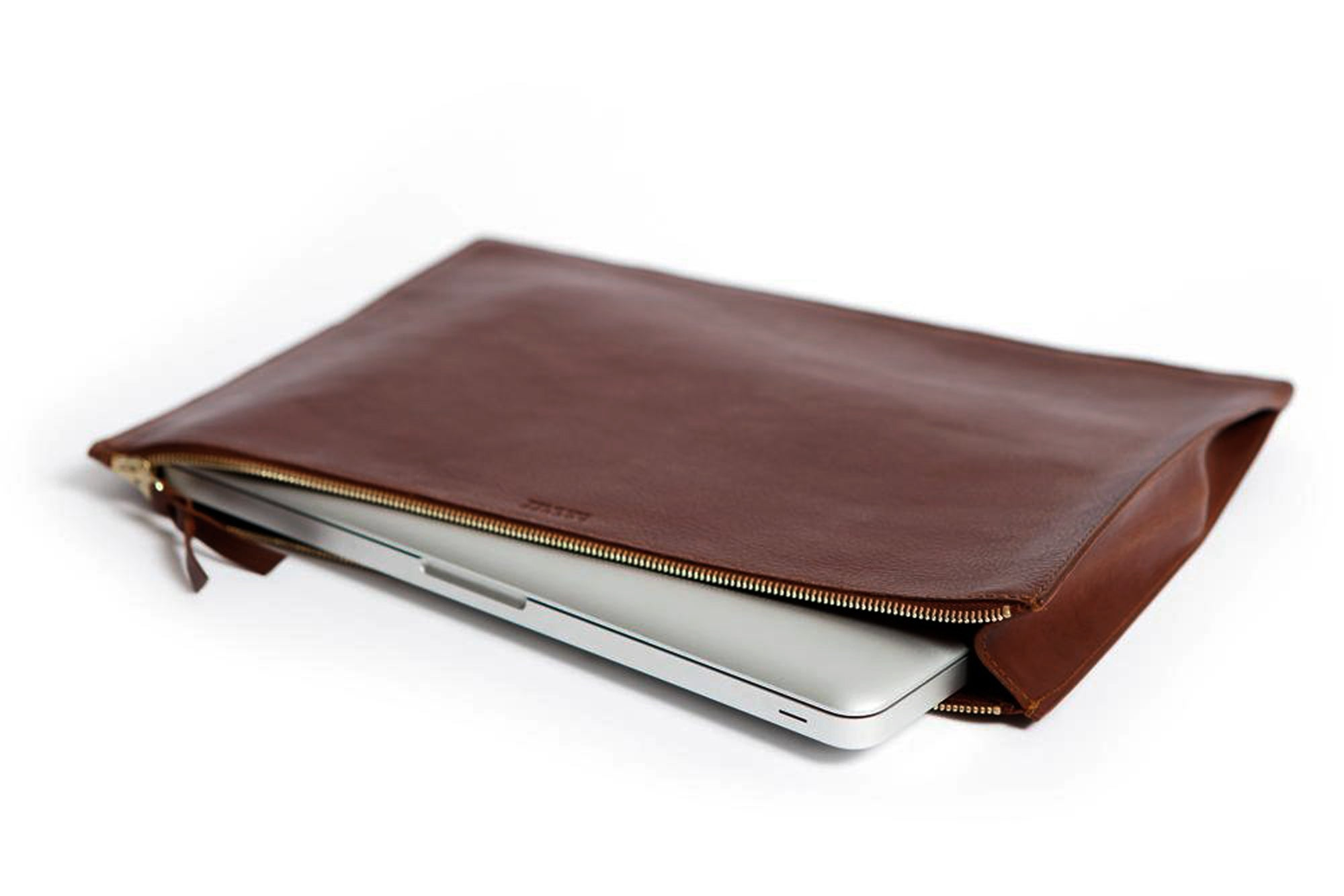 Zipper Document Pouch Chestnut