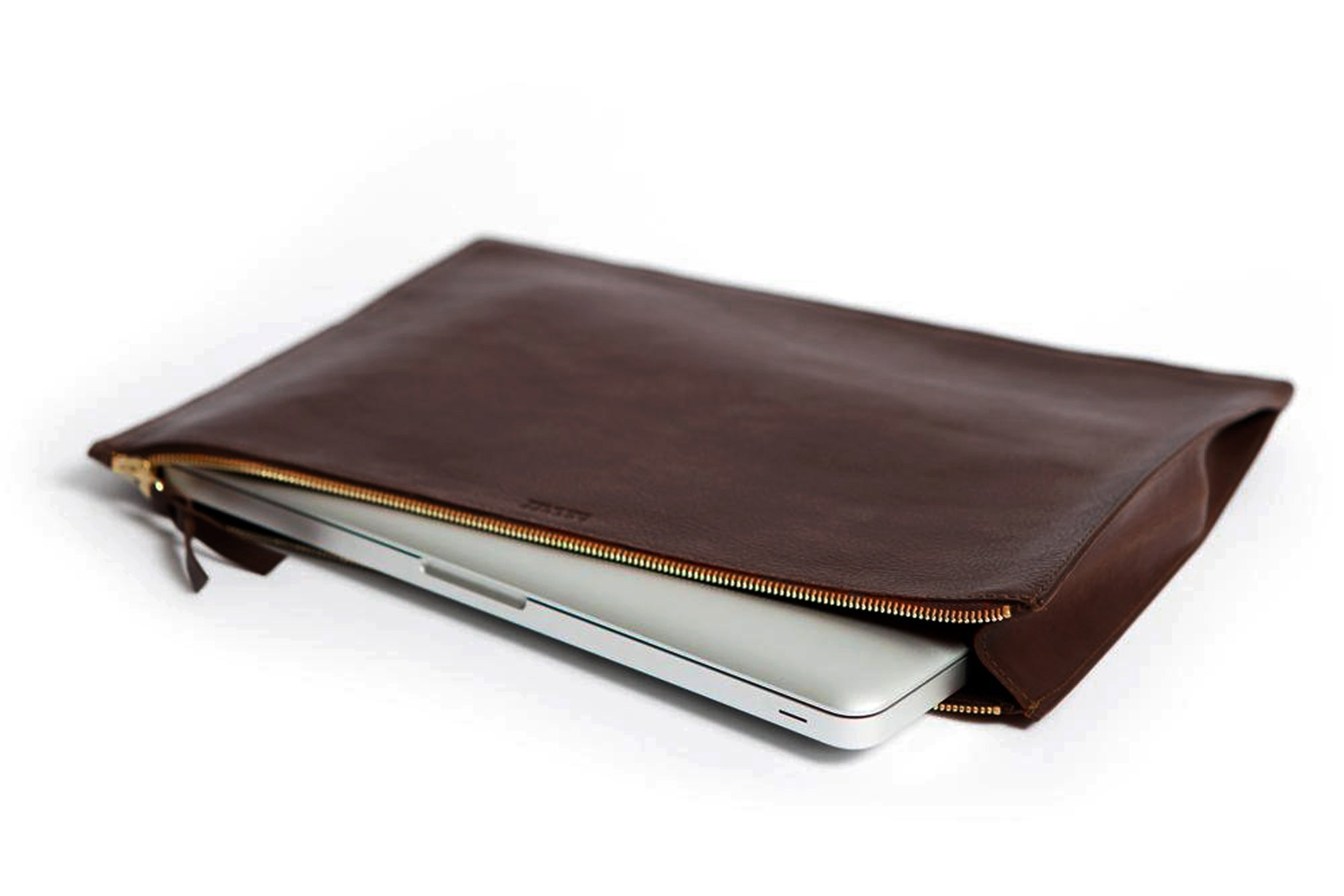 Zipper Document Pouch Chocolate
