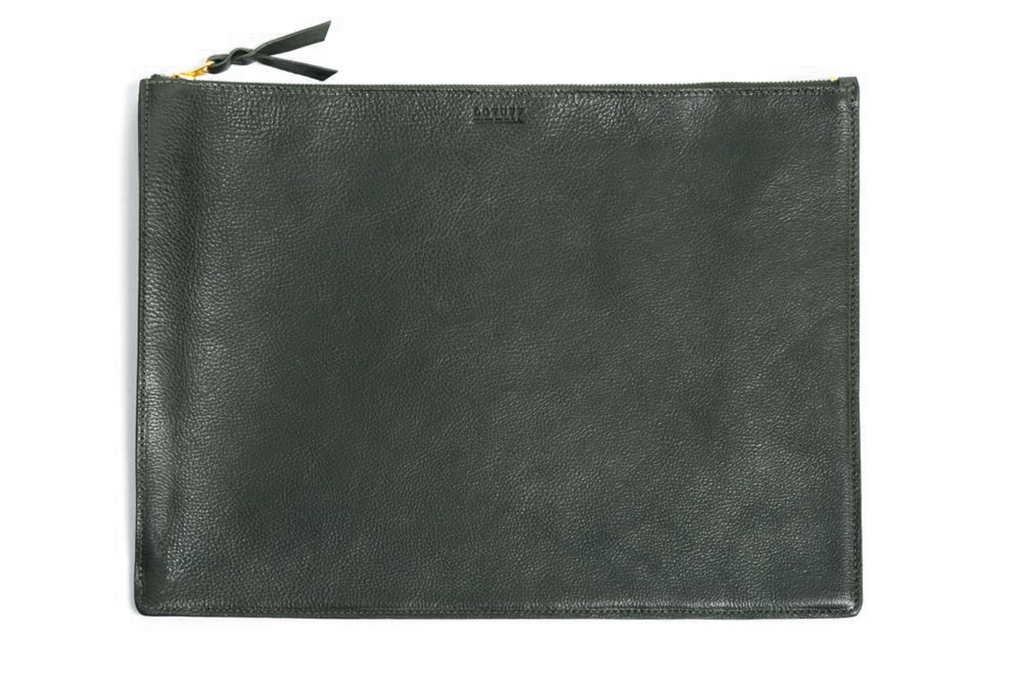 Zipper Document Pouch Green