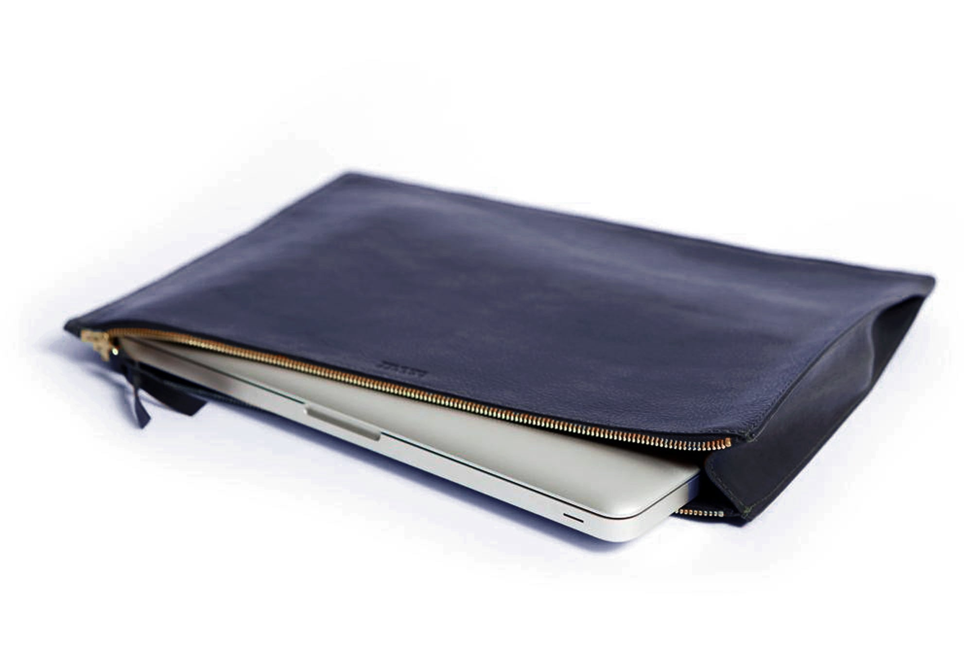 Zipper Document Pouch Indigo
