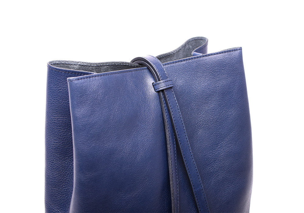 Leather Strap of The Sling Backpack Indigo