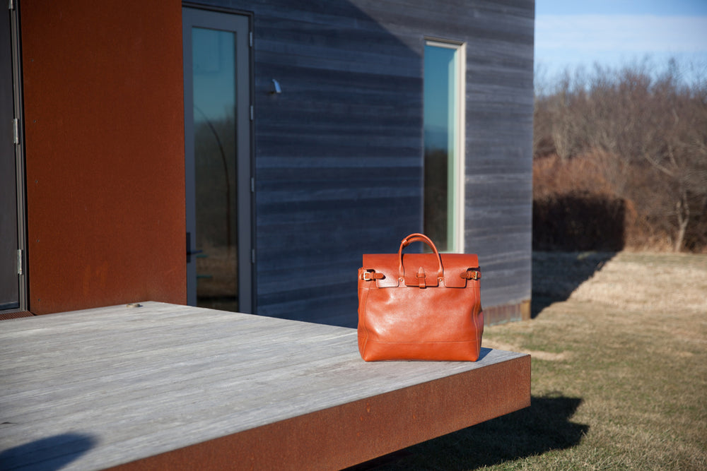 Leather Day Tote Lifestyle