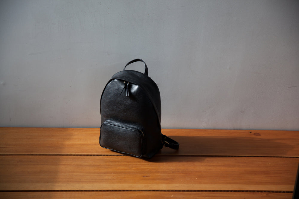Leather Zipper Backpack Lifestyle