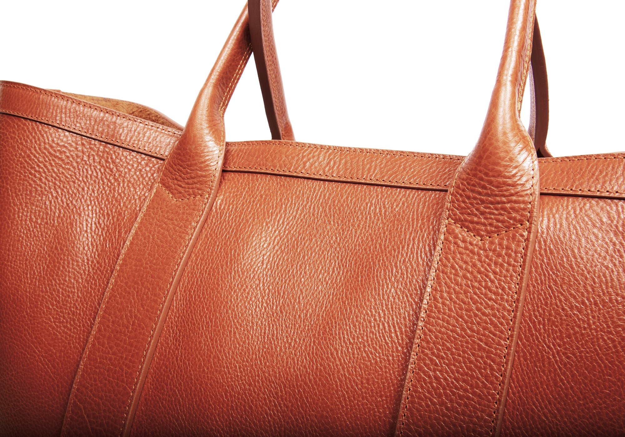 Leather Working Tote Saddle Tan