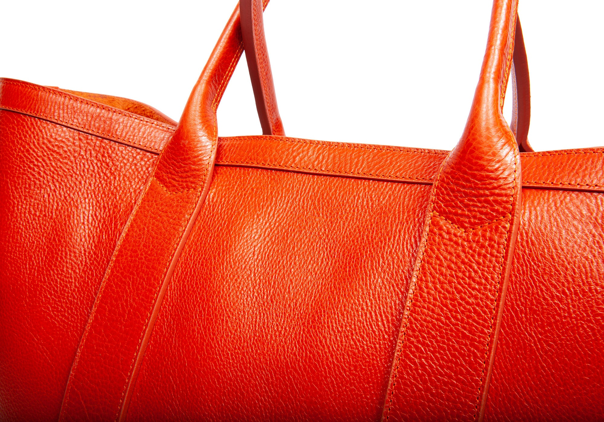 Leather Working Tote Orange