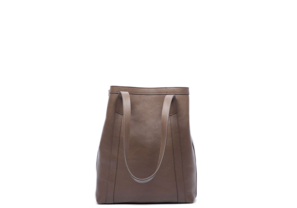 Front View of Angle Tote Clay