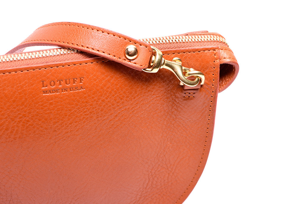 Leather Strap of The Mini Luna Orange