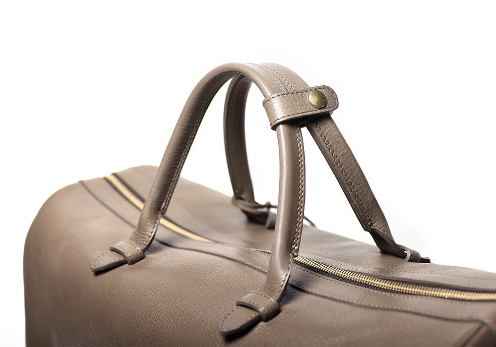 Top Leather Handle of No. 10 Weekender Bag Clay