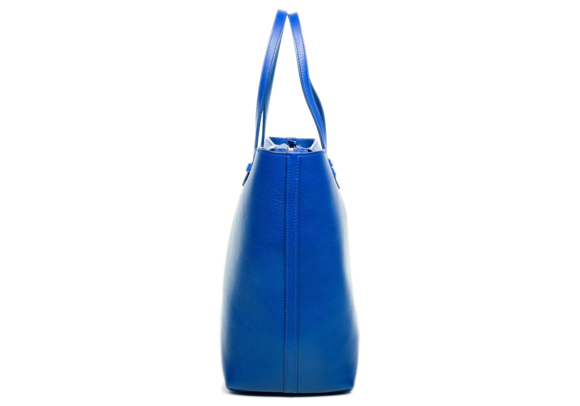 No. 12 Leather Tote Electric Blue