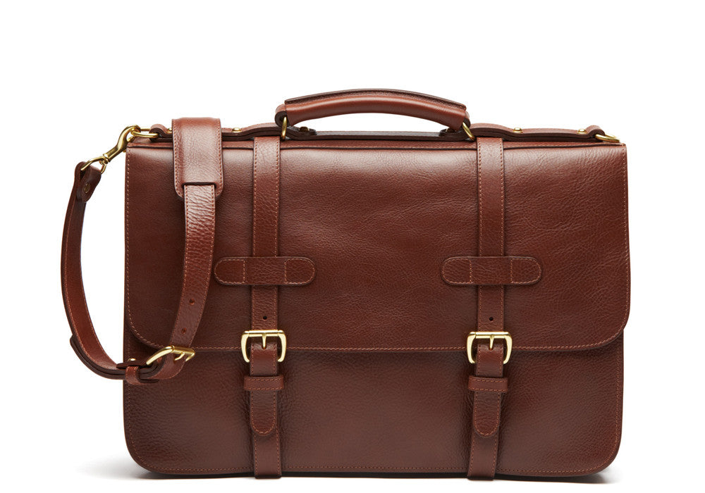 English Leather Briefcase Chestnut