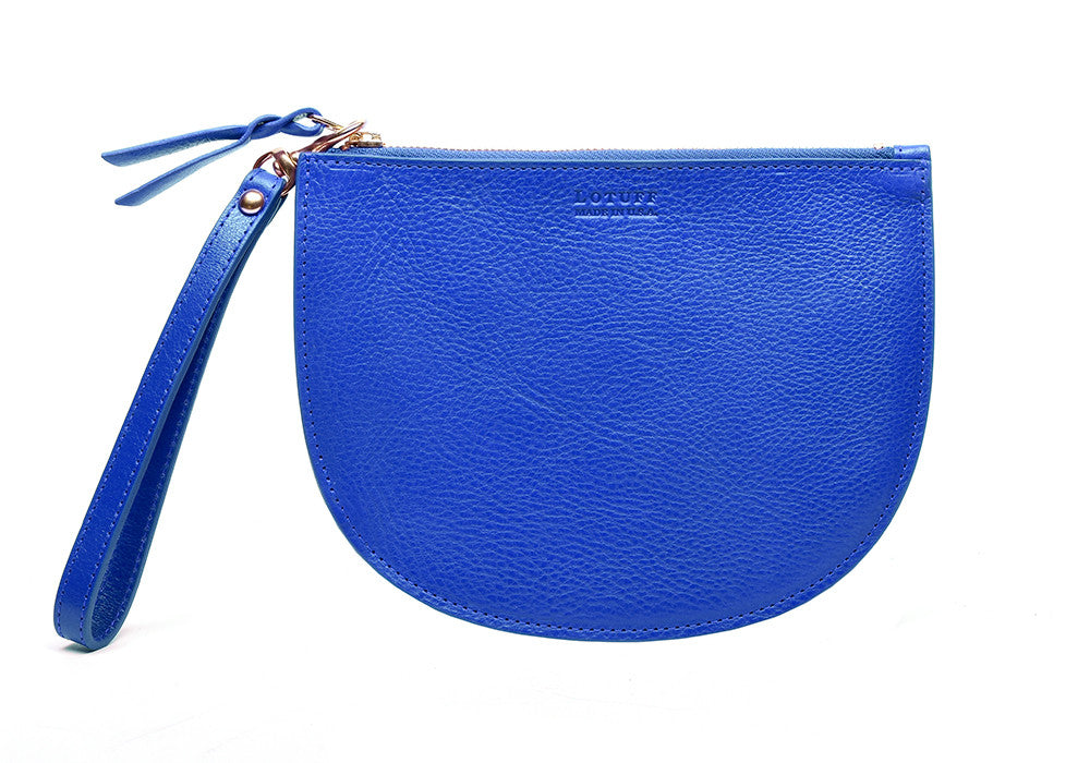 Round Pouch Electric Blue