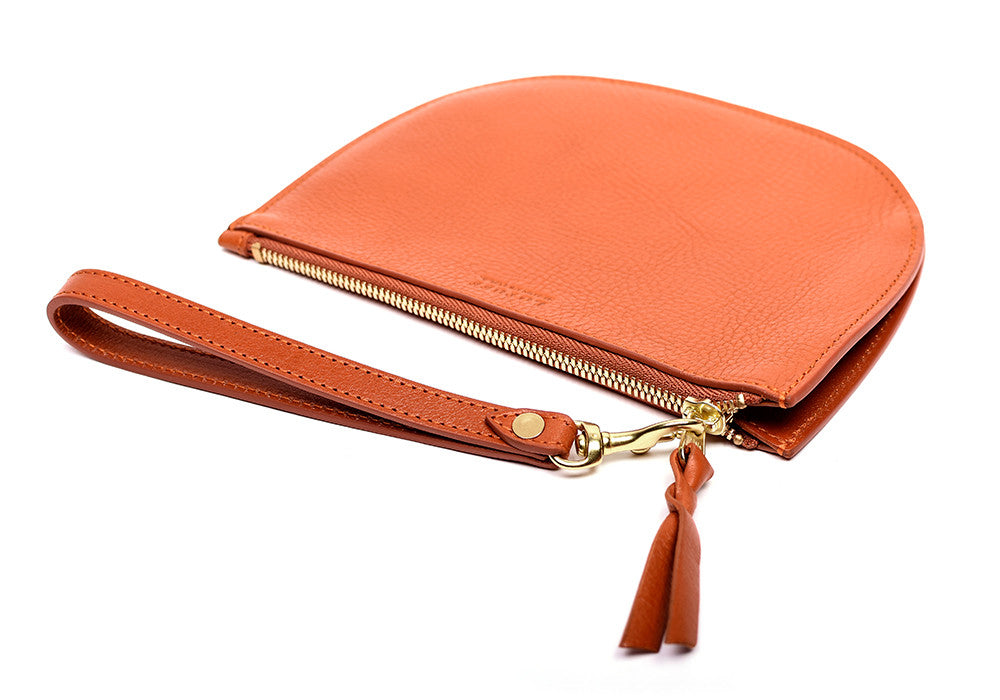 Side View of Round Pouch Orange