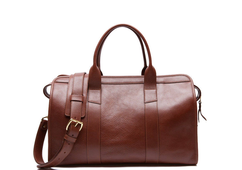 Small Leather Duffle Chestnut|Front Leather View