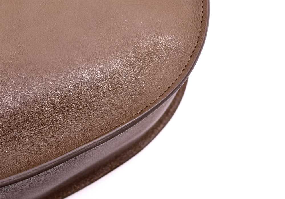Leather Corner of The Luna Clay-Natural