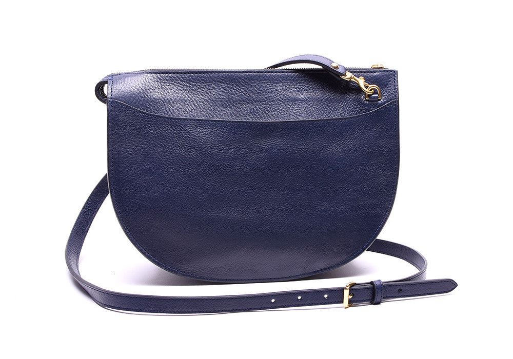 Back Leather View of The Luna Indigo-Electric Blue