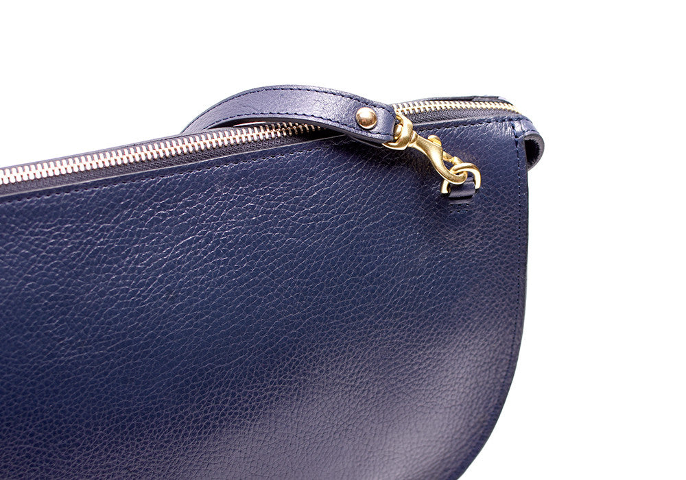 Leather Strap of The Luna Indigo-Electric Blue