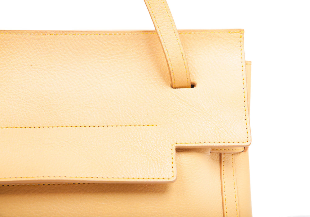Side Strap of The Knot Handbag Ochre