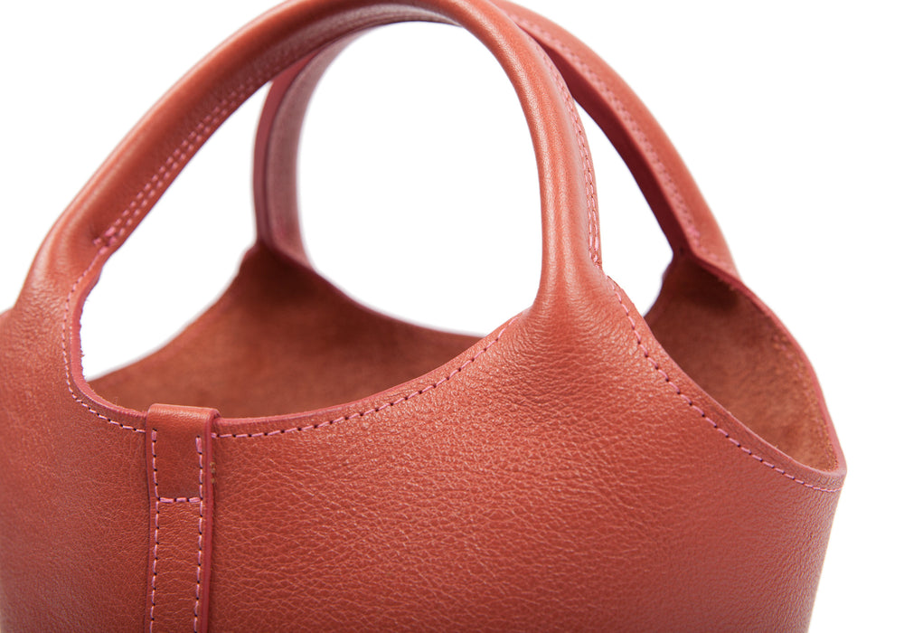Top Leather Strap of The One-Piece Bag Rosewood
