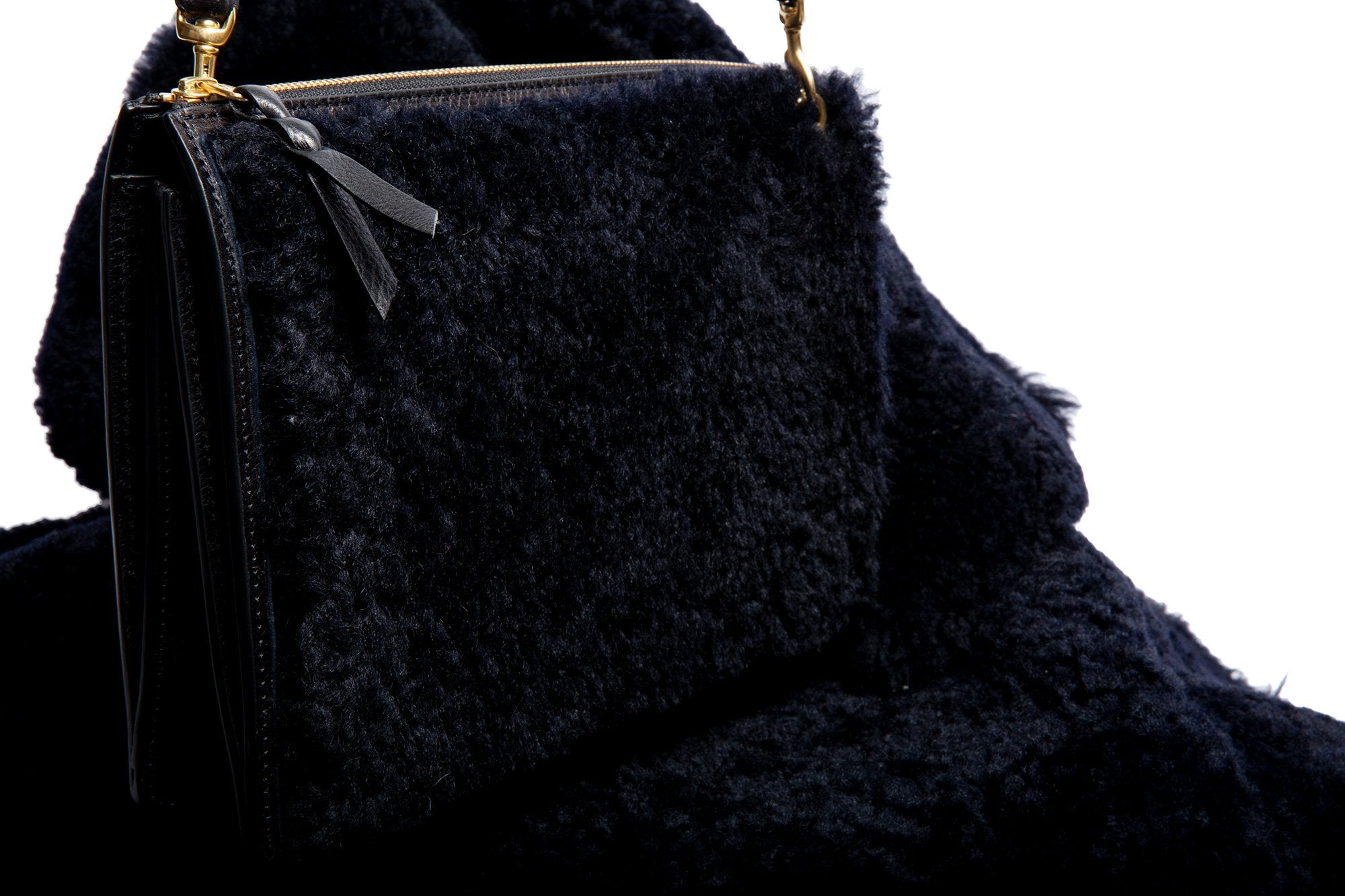 The Black Shearling Tripp II Black