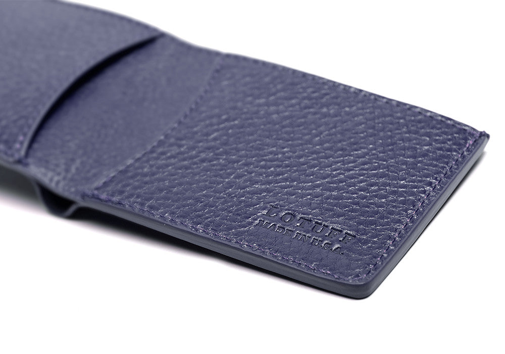 Two-Pocket Leather Bifold Wallet Indigo