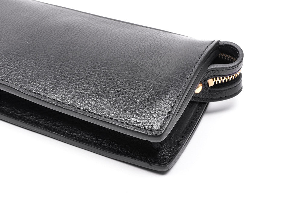 Corner Leather of Women's Leather Wallet Black