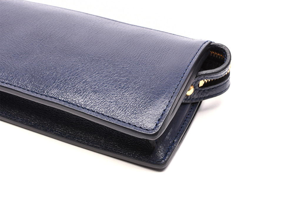 Women's Leather Wallet Indigo