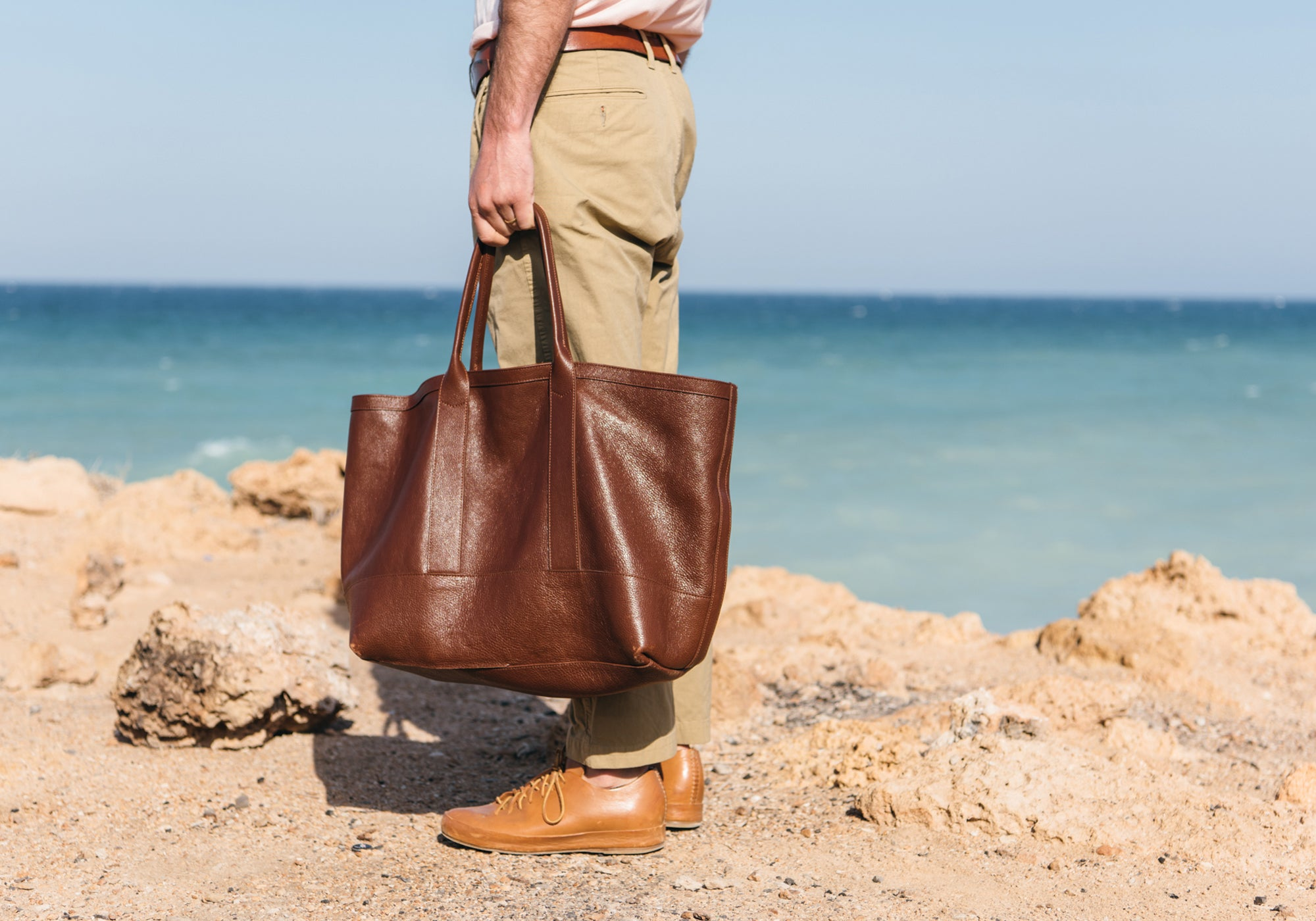 Leather Working Tote Lifestyle