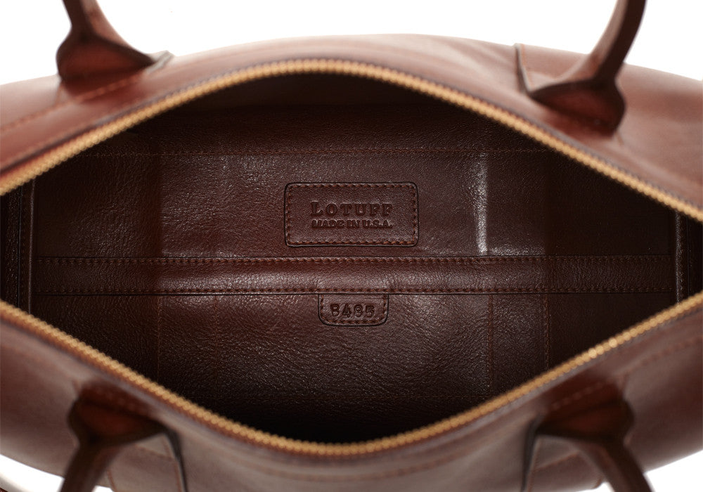 Zipper Satchel #9 Chestnut