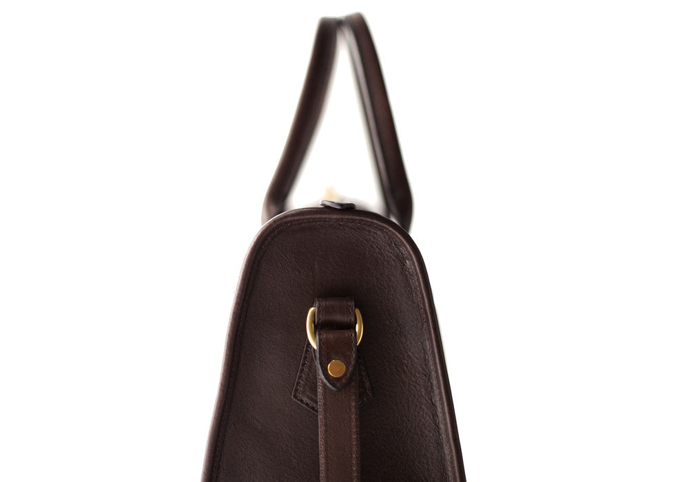 Zipper Satchel #9 Chocolate