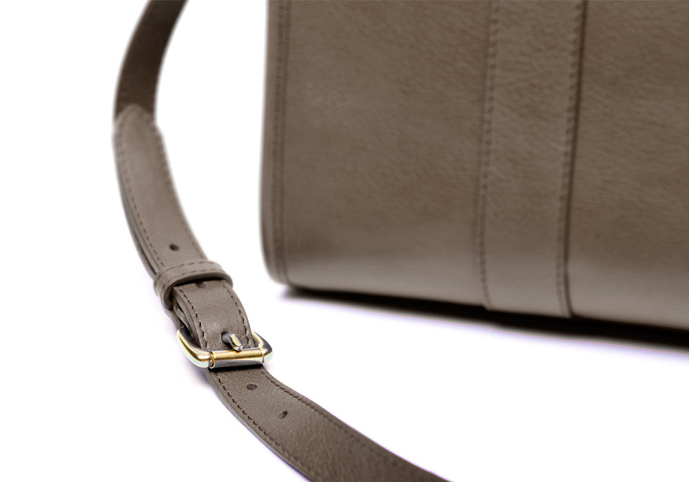 Strap and Buckle of Zipper Satchel #9 Clay