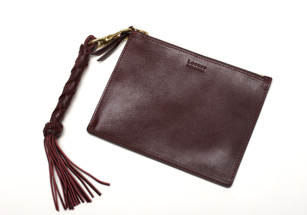 Removable Leather Pouch of Zipper Satchel #9 Cordovan
