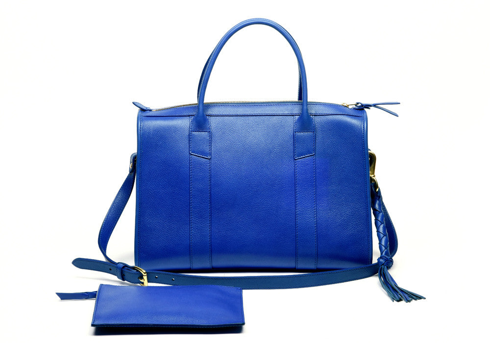 Zipper Satchel #9 Electric Blue