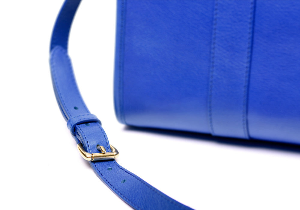 Leather Strap of Zipper Satchel #9 Electric Blue