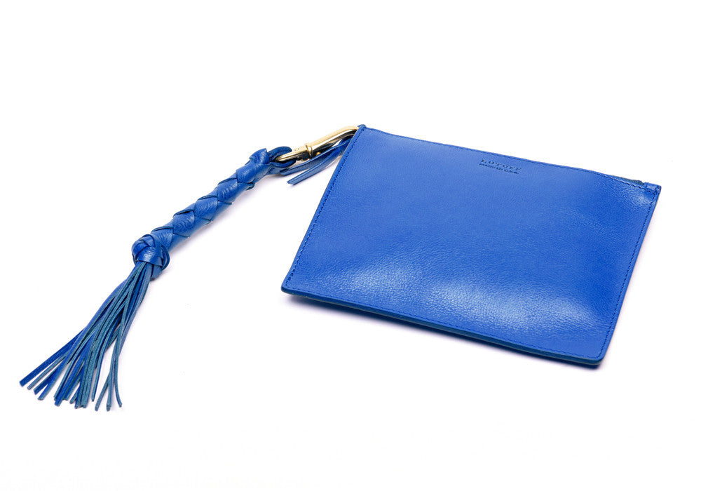 Removable Leather Pouch of Zipper Satchel #9 Electric Blue