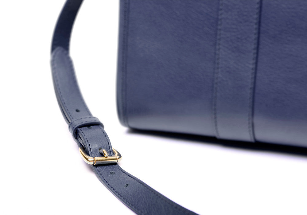 Zipper Satchel #9 Indigo