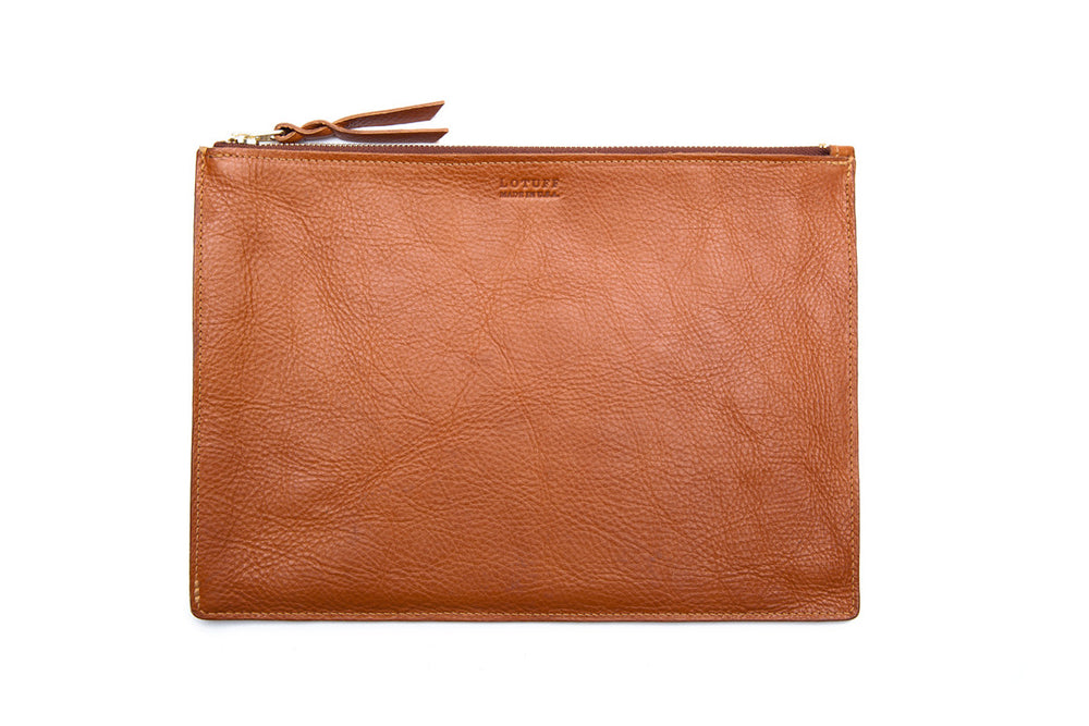 Zipper iPad Mini Pouch Tan