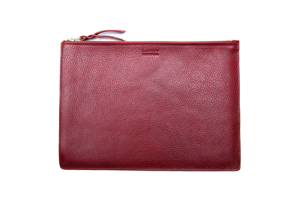 Zipper iPad Mini Pouch Red