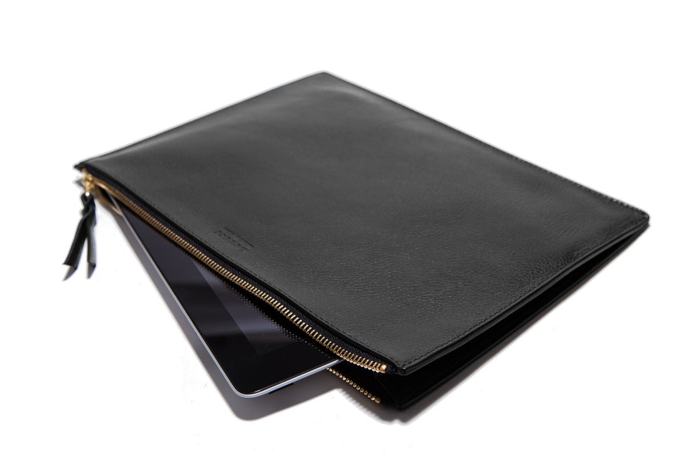Zipper iPad Pouch Black