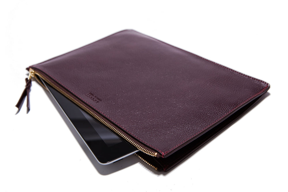 Zipper iPad Pouch Cordovan
