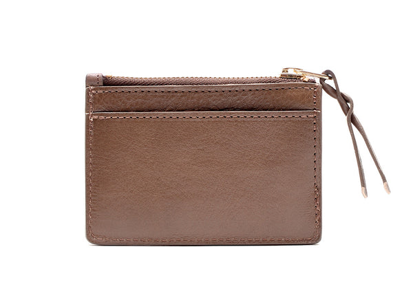 Leather Zipper Credit Card Wallet Lotuff Leather