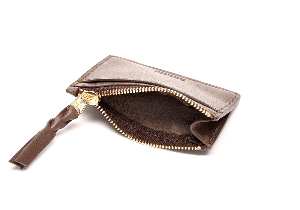 Zipper Credit Card Wallet Clay